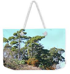 Leaning Trees On Hillside Weekender Tote Bag
