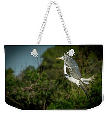 Weekender Tote Bag featuring the photograph Leap Of Faith by Marvin Spates