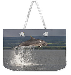 Leaping Bottlenose Dolphin  - Scotland #39 Weekender Tote Bag
