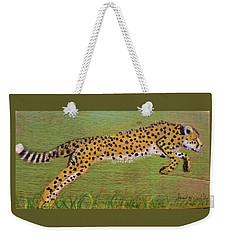 Leaping Cheetah Weekender Tote Bag