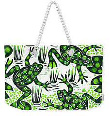 Leaping Frogs Weekender Tote Bag by Nat Morley
