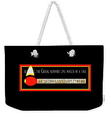 Learning The Greek Alphabet Weekender Tote Bag