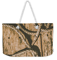 Weekender Tote Bag featuring the photograph Learning The Ropes by Jorgo Photography - Wall Art Gallery