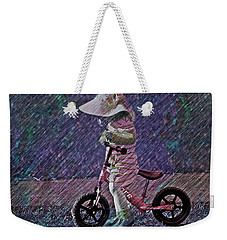 Learning To Ride Weekender Tote Bag