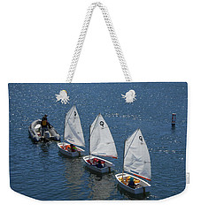 Learning To Sail Weekender Tote Bag