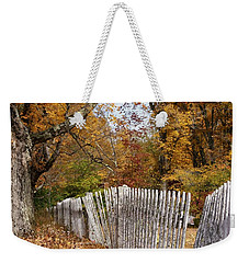 Leaves Along The Fence Weekender Tote Bag by Lois Lepisto
