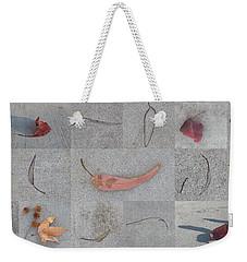 Leaves And Cracks Collage Weekender Tote Bag by Ben and Raisa Gertsberg