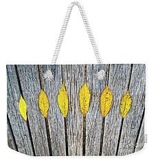 Leaves And Lines Weekender Tote Bag
