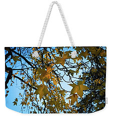 Weekender Tote Bag featuring the photograph Leaves by Cendrine Marrouat