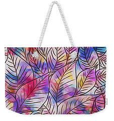 Leaves Colorful Abstract Design Weekender Tote Bag