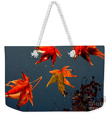 Leaves Falling Down Weekender Tote Bag