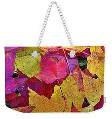 Leaves Falling Softly Weekender Tote Bag