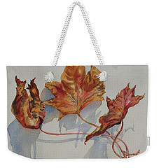 Leaves Of Fall Weekender Tote Bag by Mary Haley-Rocks
