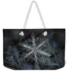 Leaves Of Ice Weekender Tote Bag by Alexey Kljatov