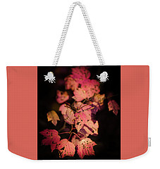 Weekender Tote Bag featuring the photograph Leaves Of Surrender by Karen Wiles