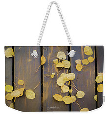 Leaves On Planks Weekender Tote Bag