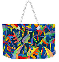Leaves On Water Abstract Weekender Tote Bag