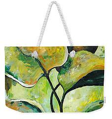 Leaves2 Weekender Tote Bag