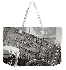 Leaving Lonesome Dove Weekender Tote Bag by Donna Kennedy