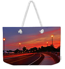 Weekender Tote Bag featuring the photograph Leaving Red Bank by Raymond Salani III