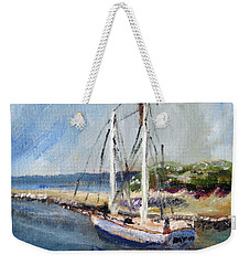 Leaving Sesuit Harbor Weekender Tote Bag