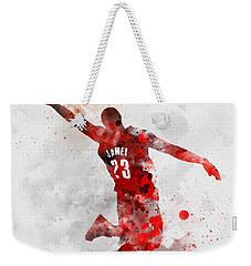Lebron James Weekender Tote Bag by Rebecca Jenkins
