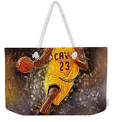 Lebron James Weekender Tote Bag by Semih Yurdabak