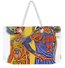 Lebron James Stephen Curry The Finals Weekender Tote Bag by Joe Hamilton