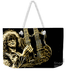 Led Zeppelin Jimmy Page Weekender Tote Bag by Marvin Blaine