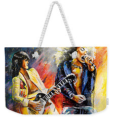 Led Zeppelin Passion Weekender Tote Bag by Miki De Goodaboom