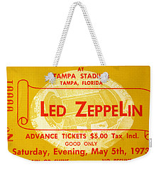 Led Zeppelin Ticket Weekender Tote Bag by David Lee Thompson