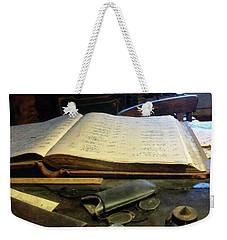 Ledger And Eyeglasses Weekender Tote Bag
