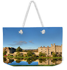 Leeds Castle And Moat Reflections Weekender Tote Bag
