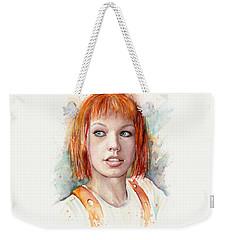 Leeloo Portrait Multipass The Fifth Element Weekender Tote Bag