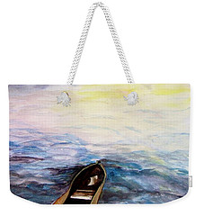 Weekender Tote Bag featuring the painting Left Alone by Lil Taylor