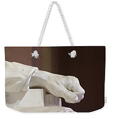 Left Hand Of Lincoln Weekender Tote Bag