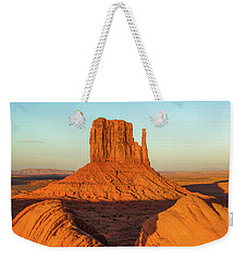 Left Mitten Sunset - Monument Valley Weekender Tote Bag