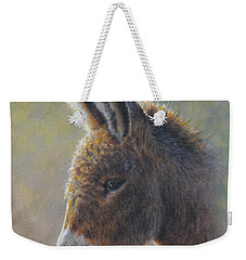 Weekender Tote Bag featuring the painting Lefty by Kim Lockman