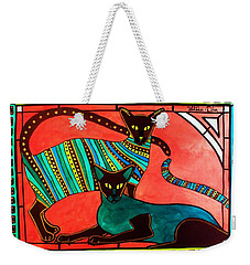 Legend Of The Siamese - Cat Art By Dora Hathazi Mendes Weekender Tote Bag