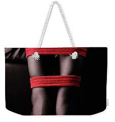 Legs In Red Ropes Weekender Tote Bag