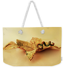 Leaf Plate 1 Weekender Tote Bag by Itzhak Richter