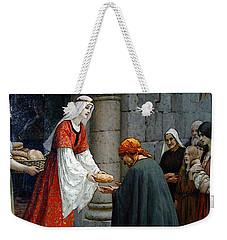 Leighton Edward Blair Charity Of St Elizabeth Of Hungary Weekender Tote Bag