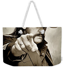Weekender Tote Bag featuring the painting Lemmy Kilmister Motorhead Artwork 1 by Sheraz A
