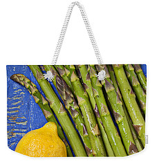 Lemon And Asparagus  Weekender Tote Bag