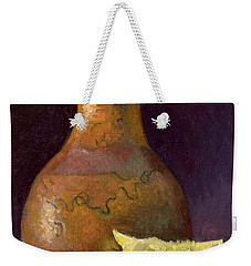 Lemon And Horsehair Vase A First Meeting Weekender Tote Bag by Catherine Twomey