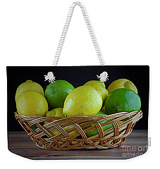 Lemon And Lime Basket Weekender Tote Bag