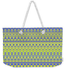 Lemon Blue Mirage Tapestry Weekender Tote Bag by Ann Johndro-Collins