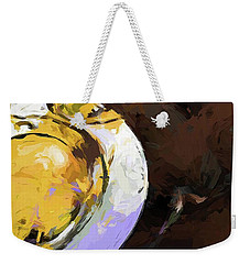 Lemon Bowl Fork Green Weekender Tote Bag