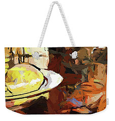 Lemon Bowl Wine Glass Fork Weekender Tote Bag