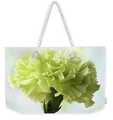 Lemon Carnation Weekender Tote Bag